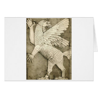 Mythological Winged Figure Card