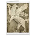 Mythological Winged Figure Greeting Card