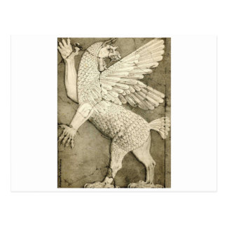 Mythological Winged Figure Postcard