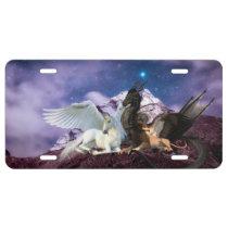Mythology Dragon Griffin Unicorn Pegasus License Plate