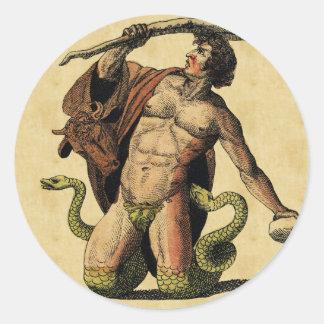 Mythology Educational Plate Classic Round Sticker