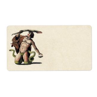 Mythology Educational Plate Label