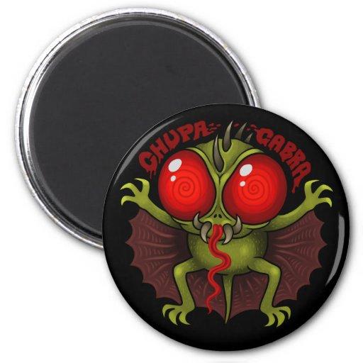 MYTHOLOGY: The Chupacabra 2 Inch Round Magnet