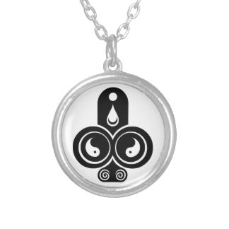 Mythos Collection Clubs Suite Symbol Round Pendant Necklace