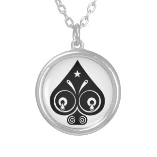 Mythos Collection Spades Suite Symbol Silver Plated Necklace