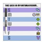 MyVirtualKingdom Week Whiteboard Dry-Erase Boards