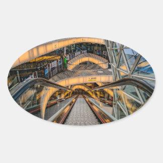 MyZeil Shopping Mall Frankfurt Oval Sticker