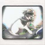 Mz. Sassy Biker Babe Mousepad Mousepad