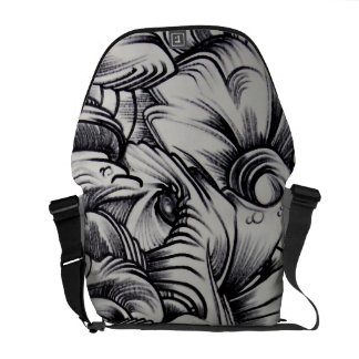 mzo bcn, graffiti courier bag