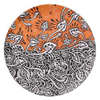 mzobcn graffiti, teller, design platos de comidas