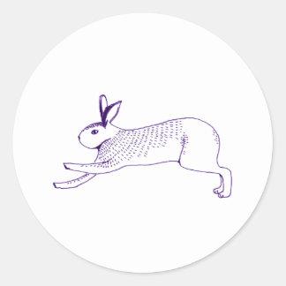 n009:rabbit 丸形シールステッカー