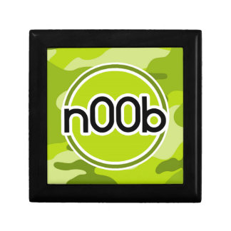 n00b; bright green camo, camouflage jewelry boxes