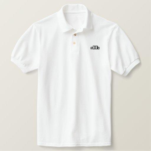 n00b embroidered polo shirt