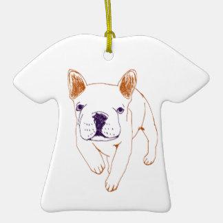 n014:french bulldog クリスマスツリーオーナメント