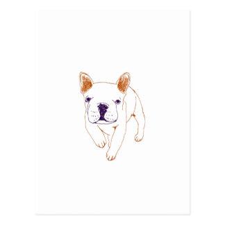 n014: french bulldog post card