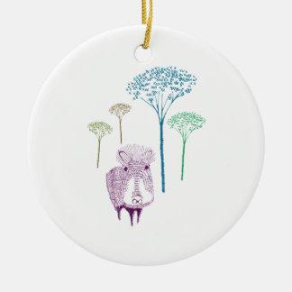 n015: jungle ceramic ornament