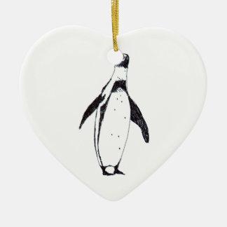 n016: penguin ceramic ornament