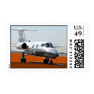 N1965L Lear Jet Postage Stamp