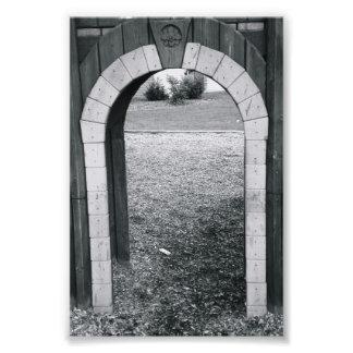 N2 4x6 blanco y negro de la fotografía de la letra cojinete