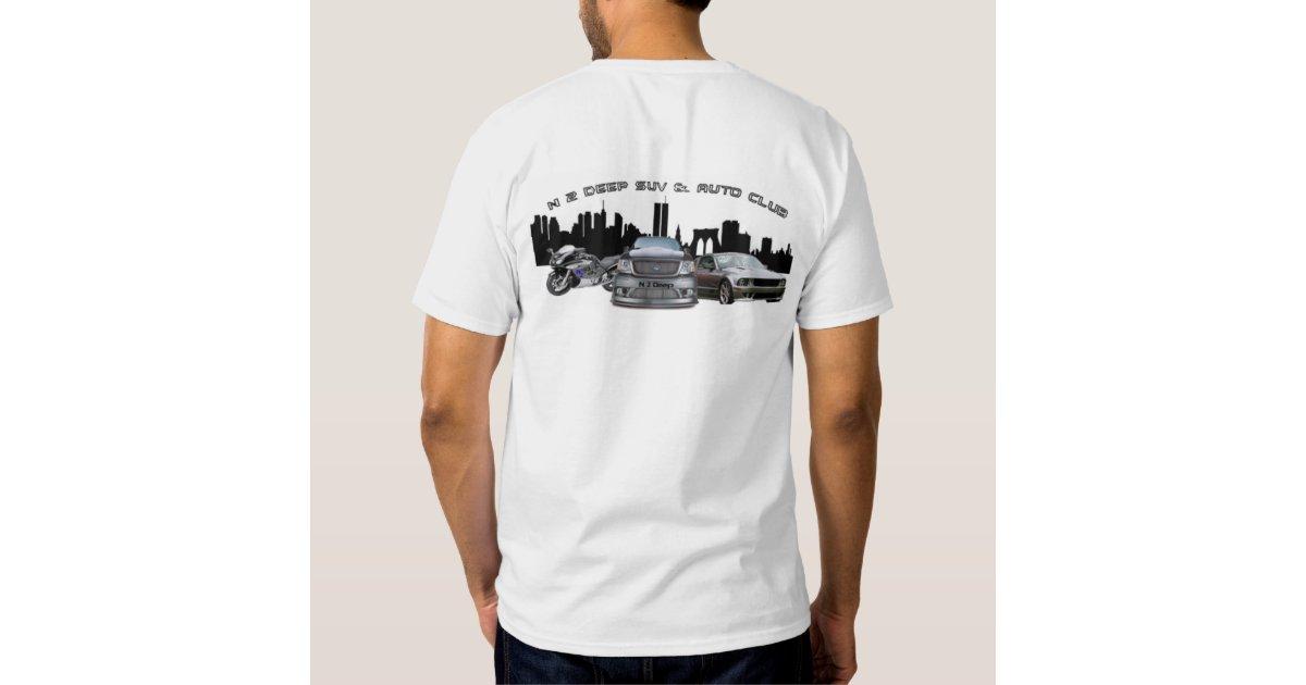 N2deep suv auto club t shirt zazzle for Custom car club shirts