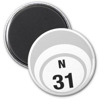N31 bingo ball fridge magnet