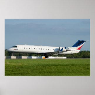 N405SW Skywest Canadair CRJ-200ER Póster