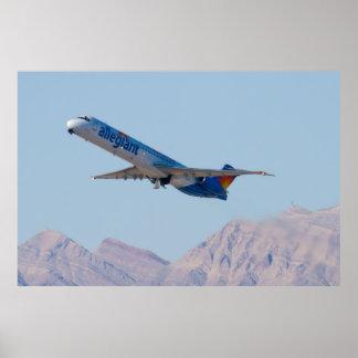 N415NV Allegiant Air MD-82 Poster