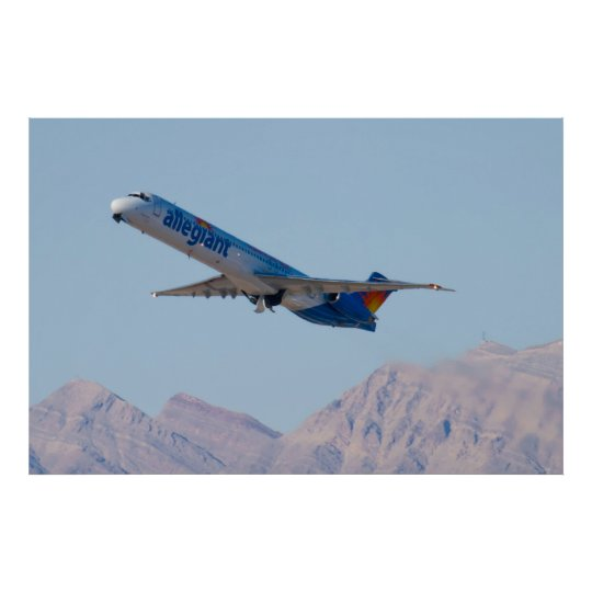 N415NV Allegiant Air MD-82 Poster
