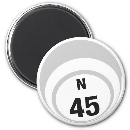 N45 bingo ball fridge magnet