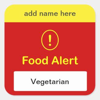 n5 - CUSTOMIZE THIS ~ Vegetarian Alert. Square Sticker