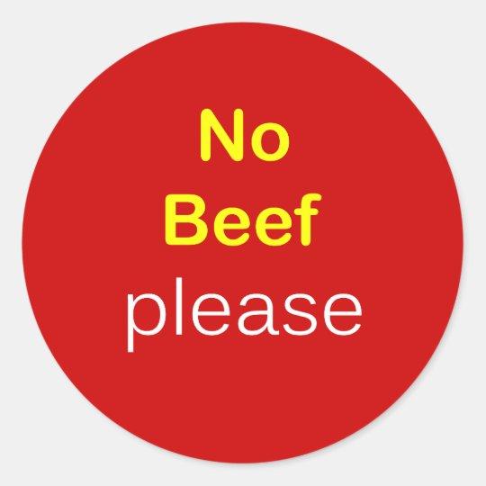 n64 - Food Request ~ NO BEEF PLEASE. Classic Round Sticker