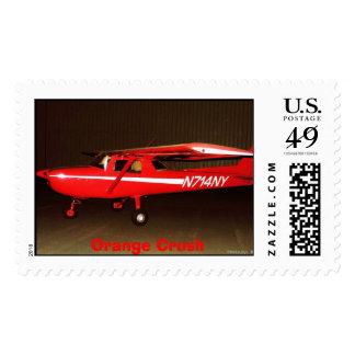 N714NY, Orange Crush Postage Stamp