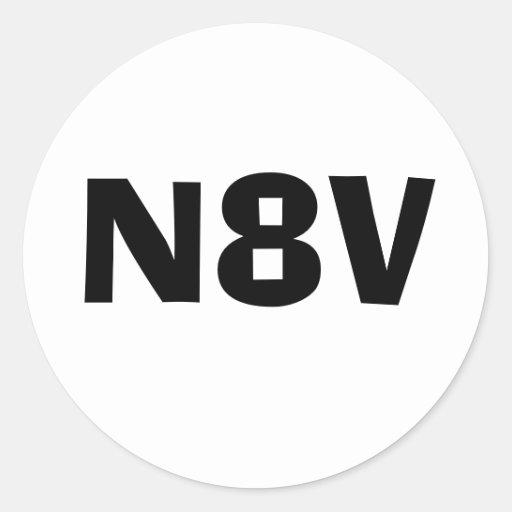 N8V decal Classic Round Sticker