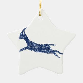 n995: Gazelle Ceramic Ornament