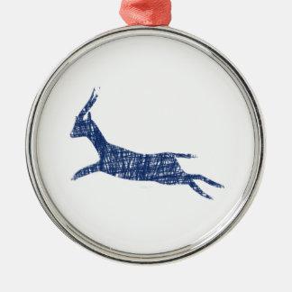 n995: Gazelle Metal Ornament