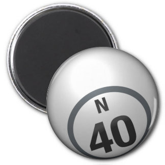 N 40 bingo ball magnet