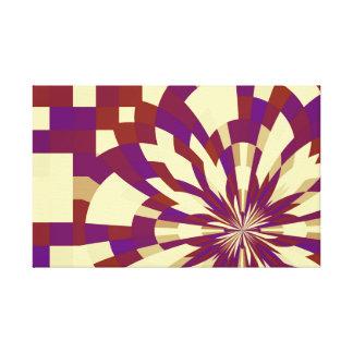 N° 5 (detalle), rojo magenta del caleidoscopio de impresión en lienzo