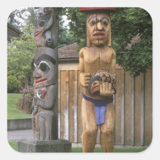 N.A., Canada, British Columbia, Vancouver 2 Square Sticker