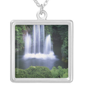 N.A., Canada, British Columbia, Vancouver 3 Silver Plated Necklace