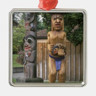 N.A., Canadá, Columbia Británica, Vancouver 2 Adorno Cuadrado Plateado