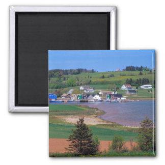 N.A. Canadá, Isla del Principe Eduardo. Los barcos Imanes De Nevera