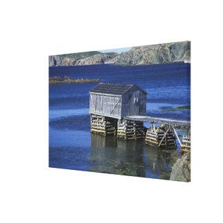 N.A., Canada, Newfoundland, Durrell. Fishing Canvas Print