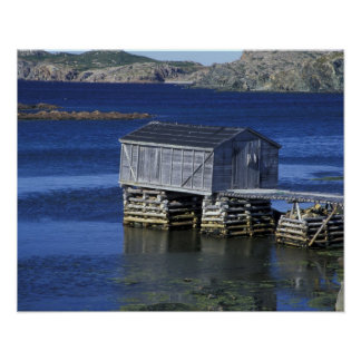 N.A., Canada, Newfoundland, Durrell. Fishing Poster