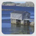 N.A., Canada, Newfoundland, Durrell. Fishing Square Stickers