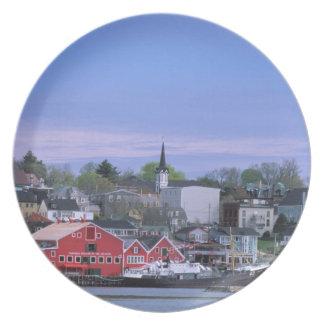 N.A. Canada, Nova Scotia. A view of Lunenburg, a Party Plates