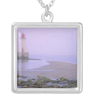 N.A. Canada, Nova Scotia, Shelburne County. 3 Square Pendant Necklace