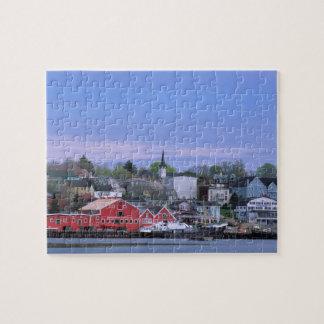 N.A. Canadá, Nueva Escocia. Una vista de Lunenburg Puzzle