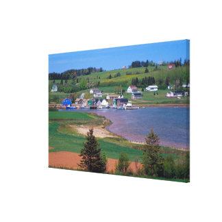 N.A. Canada, Prince Edward Island. Boats are Canvas Print