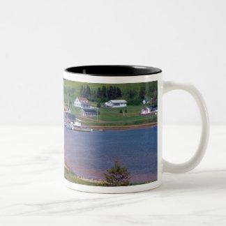 N.A. Canada, Prince Edward Island. Boats are Two-Tone Coffee Mug