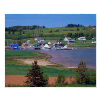 N.A. Canada, Prince Edward Island. Boats are Poster
